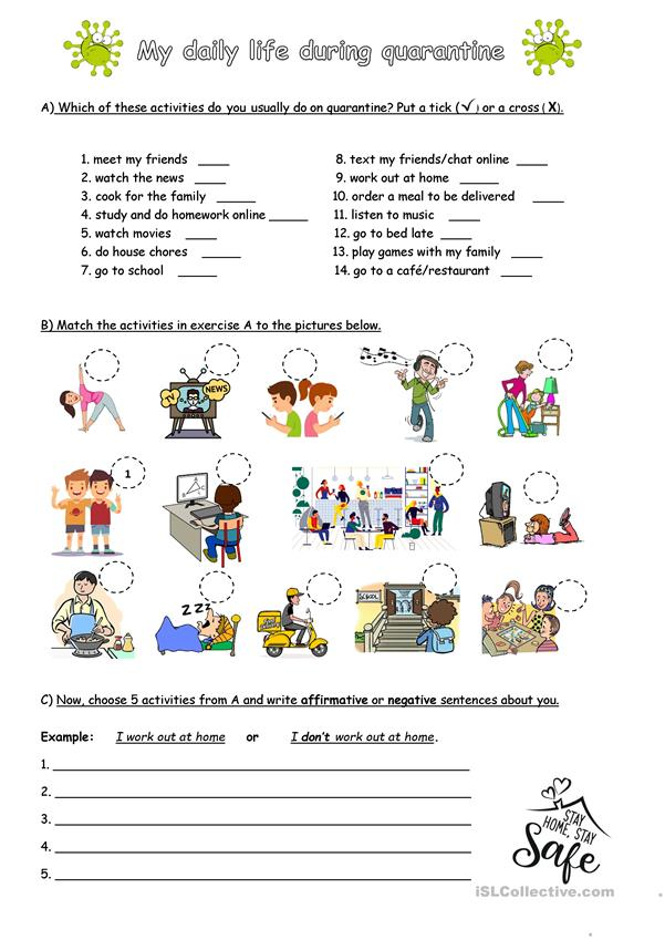 Daily Routine During Quarantine English Esl Worksheets For Distance Learning And Physical Classrooms