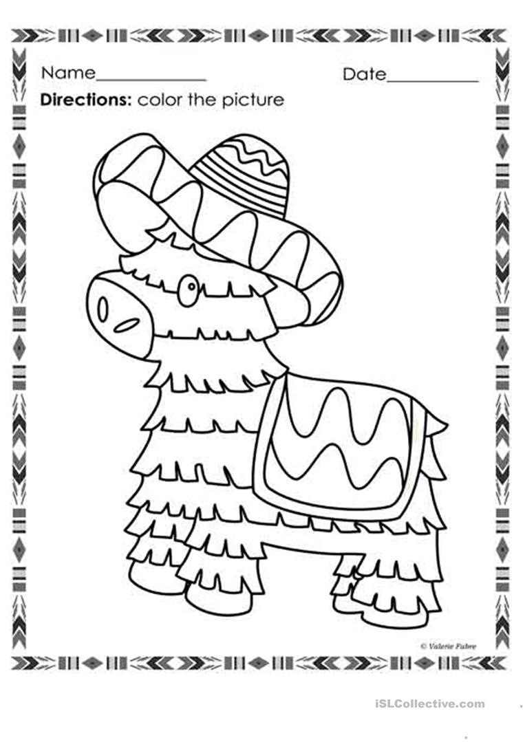 Cinco De Mayo Coloring Pages English Esl Worksheets For Distance Learning And Physical Classrooms