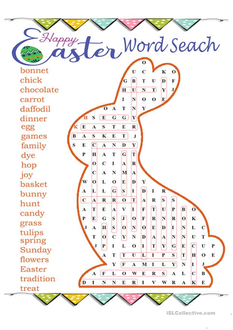 Easter Word Search Puzzle English Esl Worksheets For Distance Learning And Physical Classrooms