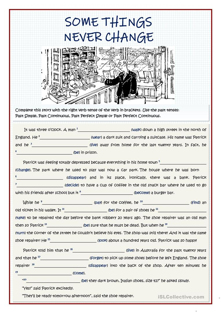 Some Things Never Change Past Tenses Review English Esl Worksheets For Distance Learning And Physical Classrooms