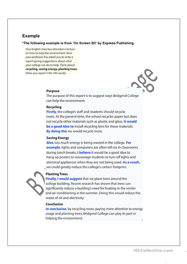 How to write a report in english example handy homework help book