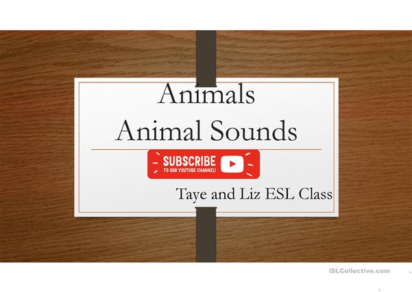 Animals and Animal Sounds