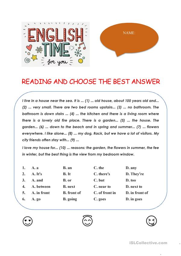 READING AND CHOOSE THE BEST ANSWER