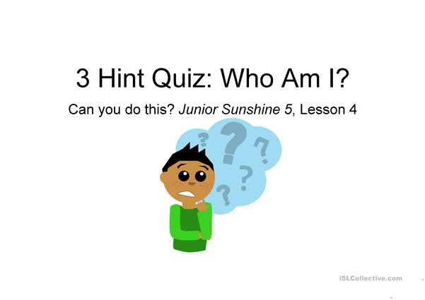 Who am I Quiz Game_Target: