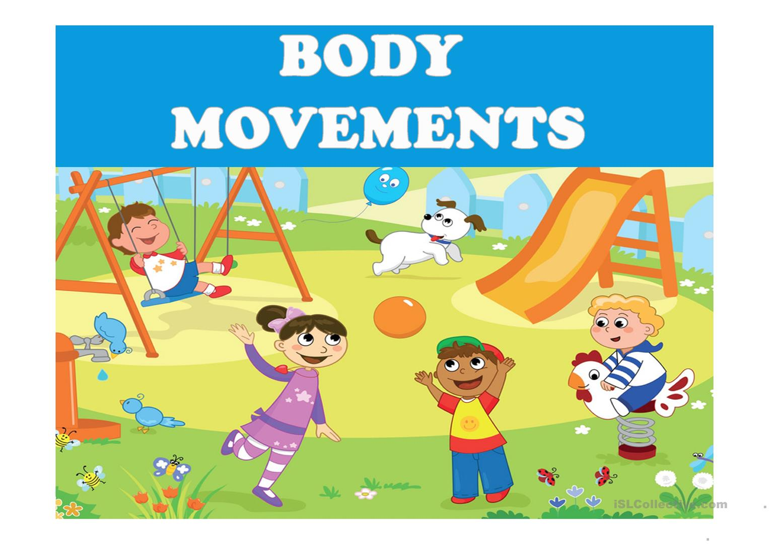 Body Movements English Esl Powerpoints For Distance Learning And Physical Classrooms