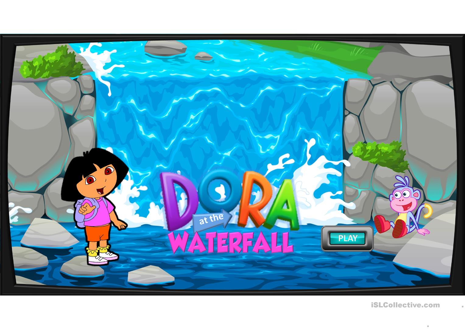 Sea Animals Game Dora At The Waterfall English Esl Powerpoints For Distance Learning And Physical Classrooms