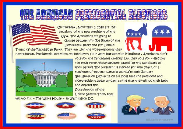 American presidential elections for young learners