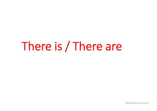 There is /There are