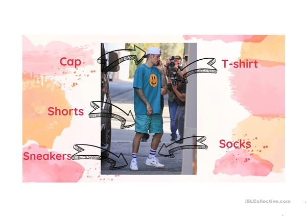 Clothing vocabulary with celebrities
