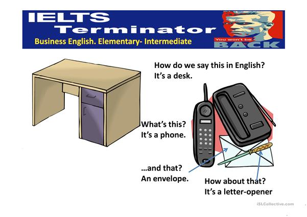 ELEMENTARY BUSINESS ENGLISH OFFICE THINGS