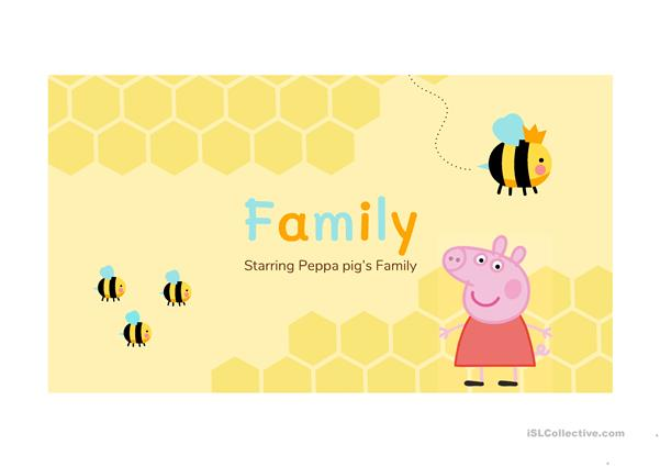 Family vocabulary with Peppa Pig