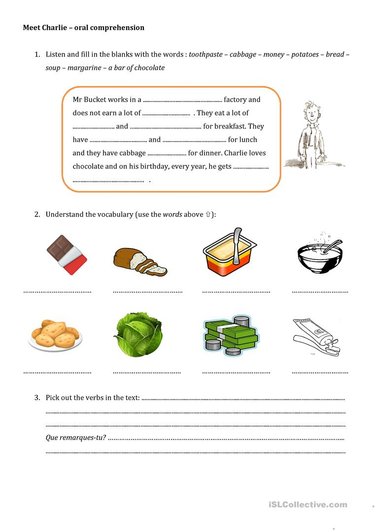 Charlie And The Chocolate Factory English Esl Worksheets For Distance Learning And Physical Classrooms