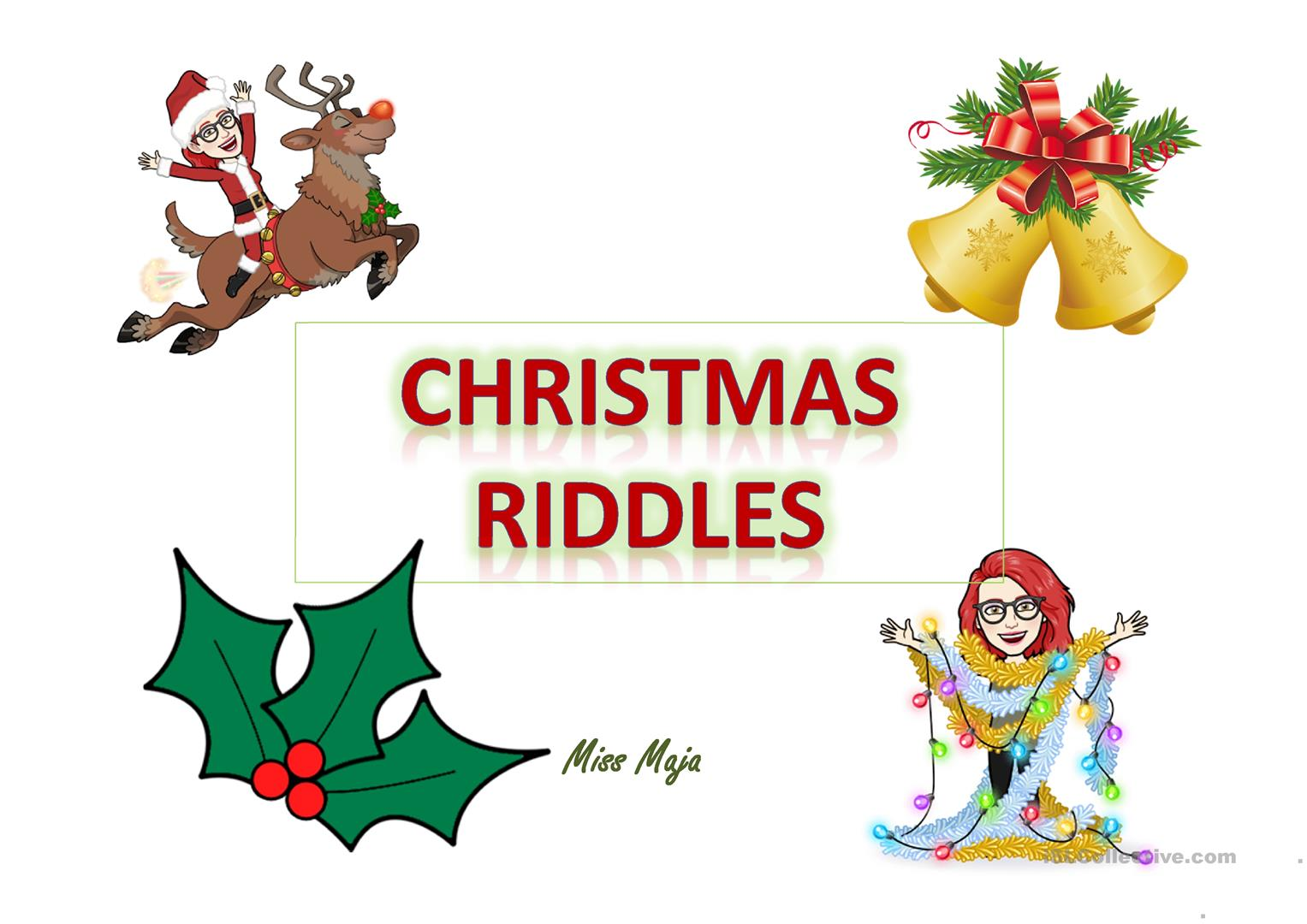 Christmas Riddles English Esl Powerpoints For Distance Learning And Physical Classrooms