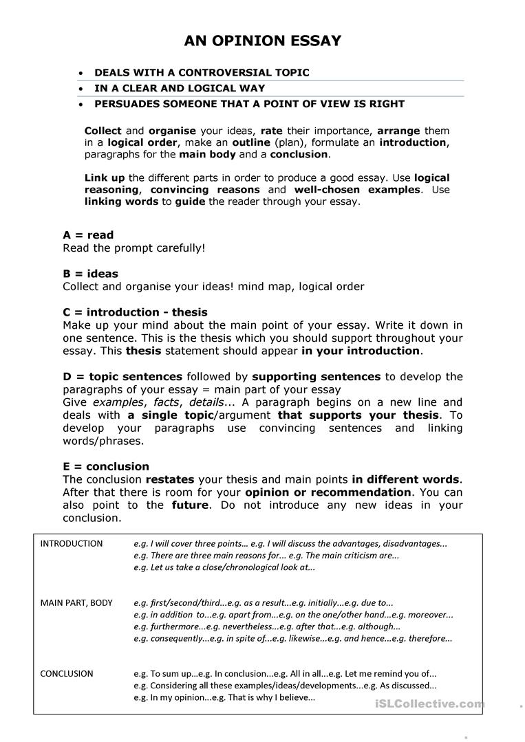 Organize And Develop Your Ideas Worksheet