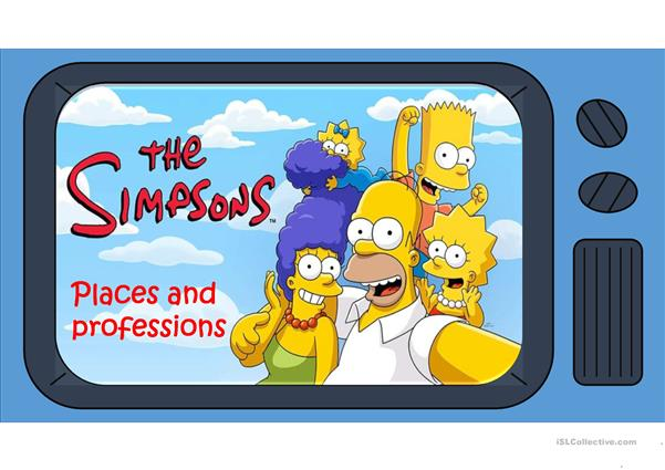 places and occupations the simpson