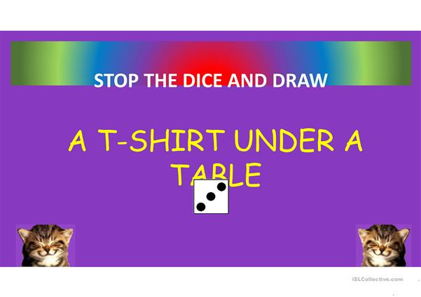 Virtual dice: IN ON UNDER